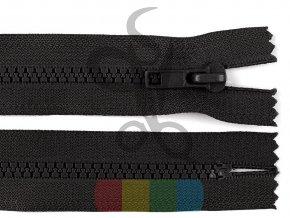 kostěný zip 20 cm, dělitelný - černý