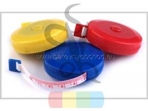 metr krejčovský samonavíjecí - různé barvy
