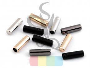 koncovka kovová  na šňůry pr.4 mm - různé barvy