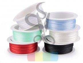 atlasová stuha oboulící 3 mm - více barev