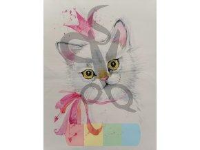 bavlna - panel - 38 x 38 cm - kocouří princ