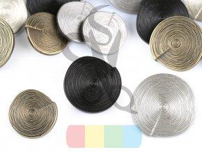 designový knoflík se strukturou 2,5 mm - více barev
