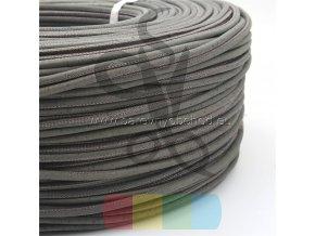 korková šňůra kulatá, průměr 5 mm - tmavší šedá