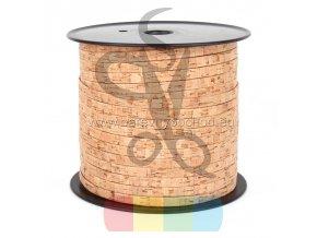 korkový pásek 10 mm přírodní