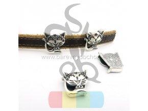 kočička pro plochý pásek 10 mm - stříbrná