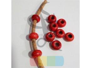 korálek pro kulatou šňůru 5 mm - červený