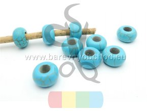 korálek pro kulatou šňůru 5 mm - světle modrý