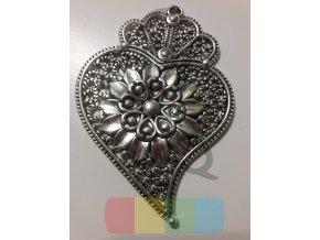 přívěšek - malé srdce s květem