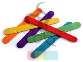 dřevěne špachtle - různé barvy