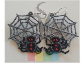 náušnice - pavouci