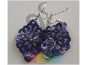 náušnice malé fialové
