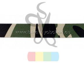 guma 25 mm - zelený maskáč