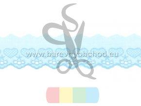 bavlněná krajka 5 cm - srdíčka - více barev