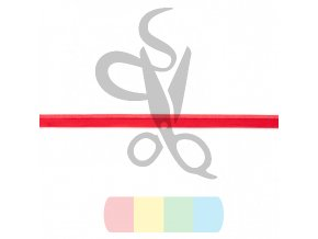 elastická paspulka - červená