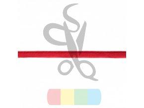 paspulka semišová - tmavší červená