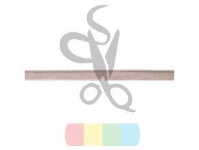 paspulka semišová - světle šedá