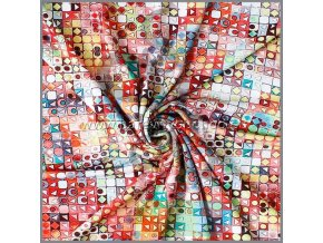 viskose jersey mosaik bunt 10 meter 2