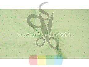mušelín (dvojitá gázovina) - zelená s hvězdičkami