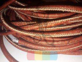 korková šňůra kulatá, průměr 3 mm - rezavozlatá