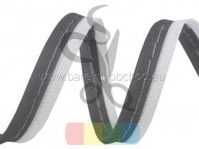 paspulka/kédr - šedá na bílé - reflexní