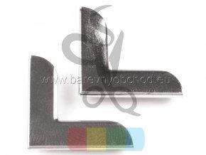 kovový rožek 19x19 mm, stříbrný