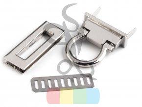 zapínání na kabelku 17x45 mm stříbrné