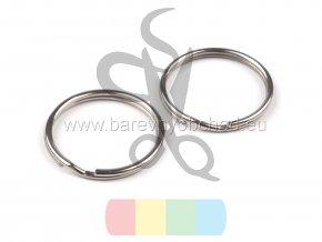 kroužek klíčový 20 mm - stříbrný