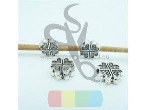 čtyřlístek pro kulatou šňůru 3 mm - stříbrný