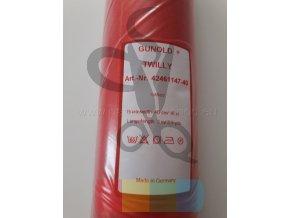 TWILLY - keprovka s podlepeným vliselínem  - červená