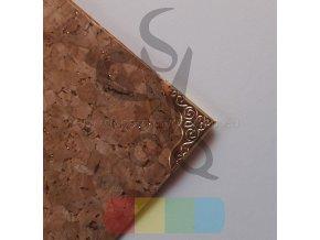 kovový rožek 22x22 mm, zlatý