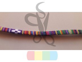 tkaná stuha 5 mm - barevná