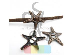 hvězdice pro šňůru 5 + 3 mm - mosazná