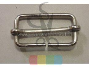 Posunovač na popruhy 30x15 mm - stříbrný