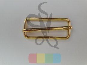 zkracovač kovový na popruhy 40 x 15 mm - zlatý