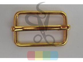 Posunovač na popruhy 15 x 25 mm - zlatý