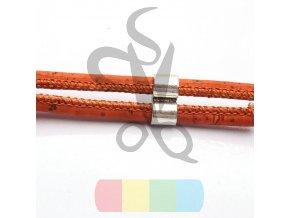 korková šňůra kulatá, průměr 5 mm - oranžová