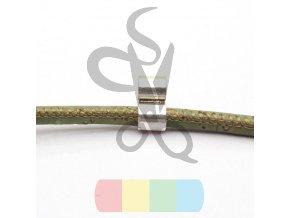 korková šňůra kulatá, průměr 3 mm -  zelená