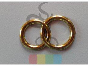 plastové spojené prstýnky - zlaté