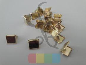 kovové zakončení 10 mm, barva zlatá