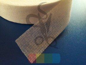 vlizelín zažehlovací pásek 30 mm - bílý