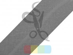 šikmý proužek 30 mm založený - různé barvy