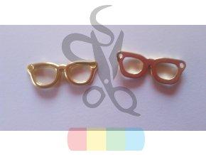 brýle k našití - zlaté