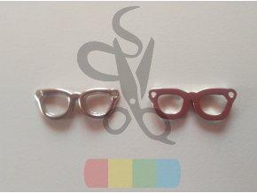 brýle k našití - stříbrné