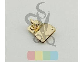 10pcs lot High grade lock pale golden gun black DIY package twist lock mortise lock (2)
