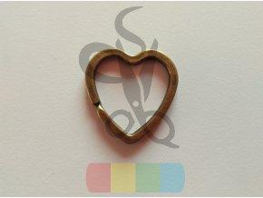 srdíčko 30 mm - mosazné