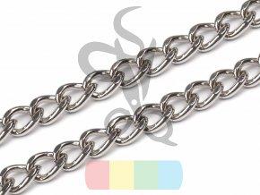 řetízek na kabelky bez karabiny - 120 cm - stříbrný