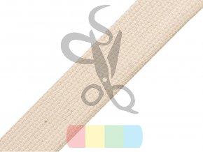 bavlněný popruh, šíře 2 cm, barva režná