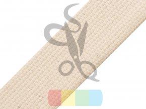 bavlněný popruh, šíře 4 cm, barva režná