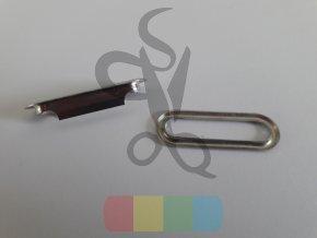 očko oválné 30 x 6 mm - stříbrné