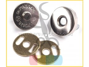 magnetické zapínání průměr 14mm nikl